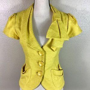 Nanette Lepore Canary Yellow Jacket Size 8 EUC